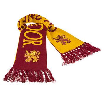 universal studios harry potter knit reversible gryffindor scarf new with tags