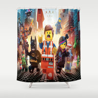 Lego movie Shower Curtain by Giftstore2u