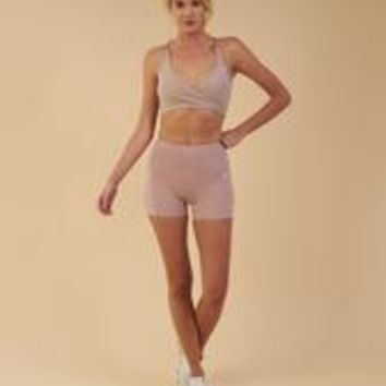 Gymshark Dreamy High Waisted Shorts - Taupe