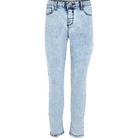 River Island Girl light blue acid wash Molly jeggings