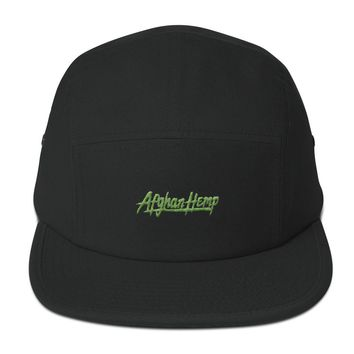 X - Afghan Hemp 5 Panel Camper Hat