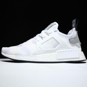 """""""Adidas"""" NMD XR1 Duck Camo Camouflage Stylish Women Men Casual Running Sport Casual Shoes Sneakers White I"""