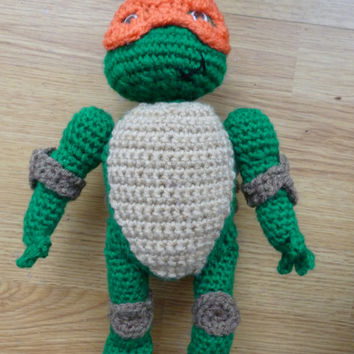 Crochet Turtle - Teenage Mutant Ninja Turtle TMNT inspired Amigurumi