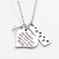 Mom of Boys Pendant Necklace