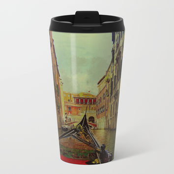 Venice, Italy Canal Gondola View Metal Travel Mug by Theresa Campbell D'August Art