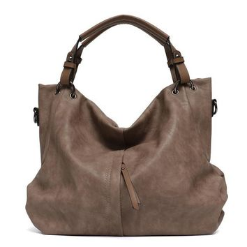 Vegan Leather Hobo Handbag