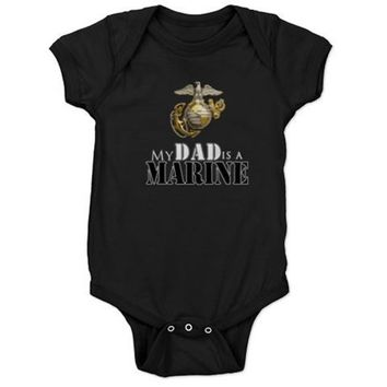 My Dad is a Marine Baby Bodysuit