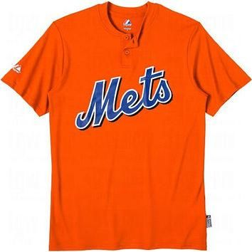 New York Mets (YOUTH MEDIUM) Cool Base Moisture Management Two-Button MLB Officially L
