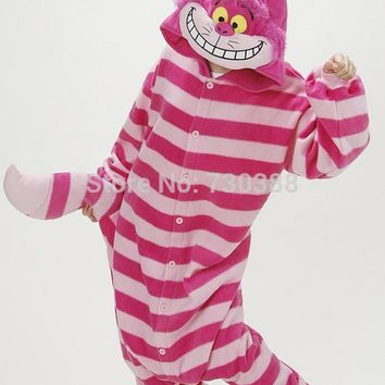 Cosplay Anime Cheshire Cat Women Men Unisex Onesuit Halloween Carnival Christmas Party Costumes Pajamas for Adults Pijamas