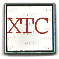 Vintage 80s XTC New Wave Mirror Pinback Button Pin Badge