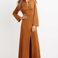 Faux Suede Maxi Dress