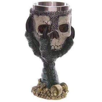 Creative Goblet Cup Skull Shape Design Stainless Steel 200ml Cup - Green