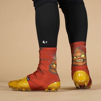 Angry Poop Toxic Emoji Spats / Cleat Covers