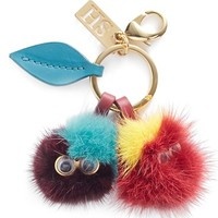 Sophie Hulme 'Mr. & Mrs. Cherry' Genuine Mink Fur Pompom Bag Charm | Nordstrom