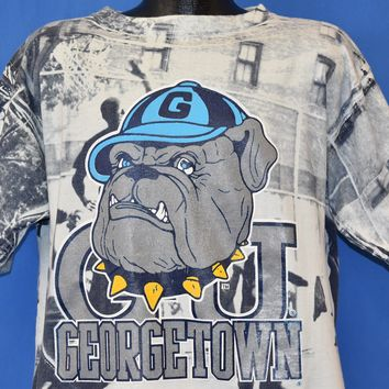 90s Georgetown Hoyas Hip Hop Print t-shirt Large