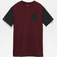 Pocket Surf T-Shirt - Mens Tee - Red