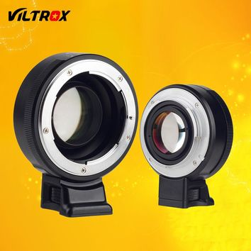 Viltrox Focal Reducer Speed Booster Lens Adapter Turbo w/ Aperture Ring for Nikon F Lens to Sony A7 A7R A7SII A6300 A6500 NEX-7