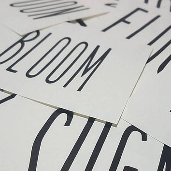 Dunn word decals customized Personalized you own words, numbers