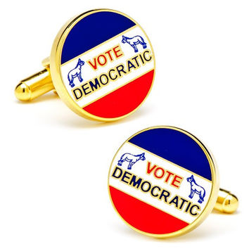 Vintage Style Vote Democratic Election Cufflinks