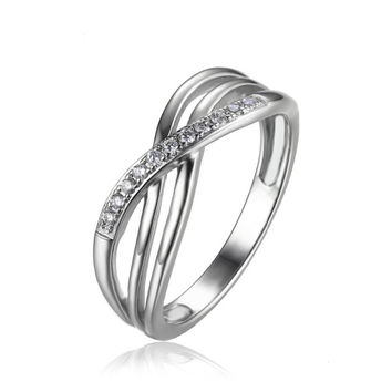 Silver Infinity Love Romantic Anniversary Wedding Promise Ring