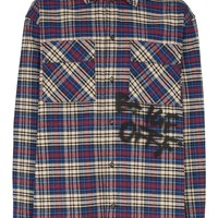 Graffiti Multi Blue Checkered Button-Up Shirt by OFF-WHITE
