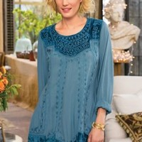 Blue Moon Tunic - Velvet Tunic, Vintage Look Velvet Tunic | Soft Surroundings