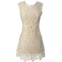 Lily Boutique Victorian Secret Crochet Lace Dress Lily Boutique