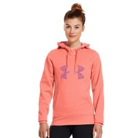 Under Armour Women's Armour® Fleece Storm Big Logo Hoodie Medium ELECTRIC TANGERINE