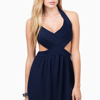 Pleat Treat Cut Out Dress $51