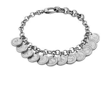 Gucci Coin Bracelet in Sterling Silver | FWRD
