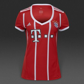 KUYOU Bayern Munchen 2017/18 Home Women Soccer Jersey Personalized Name and Number