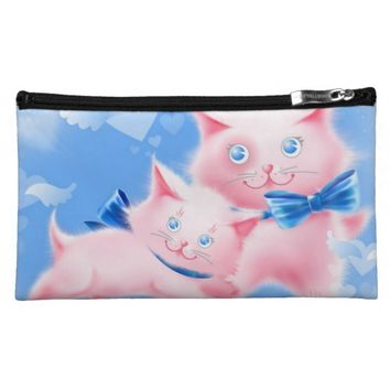 Pink Cats Cosmetic Bag