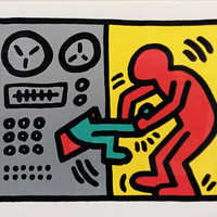 "Keith Haring ""Pop Shop III (1)"" - 1989 - Signed Screenprint - COA - Buy/Sell/Trade - See Live at GallArt"