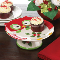 Holiday Hoot Cake Stand