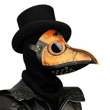 ESBON Takerlama Vintage Steampunk Plague Doctor Masks PU Leather Birds Beak Masks Gothic Masquerade Ball Masks Halloween Cosplay Props