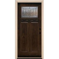 Feather River Doors, Phoenix Patina Craftsman Stained Chestnut Mahogany Fiberglass Entry Door, F63794 at The Home Depot - Tablet