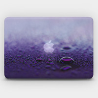 Transparent  Skin Sticker Decal for MacBook Air  13' MacBook Pro 13' 15' - Purple Drops