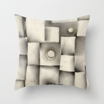 Quantum plate Throw Pillow by Zia