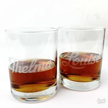 Thelma & Louise Whiskey Glass Set