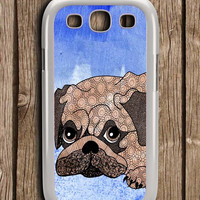 Painting Pug Samsung Galaxy S3 Case