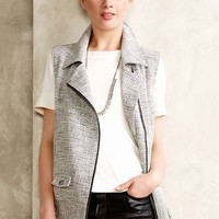 Zipped Tweed Vest by The Addison Story Grey