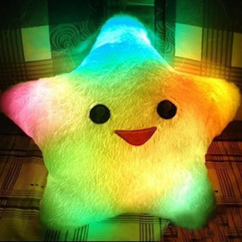 Colorful LED Luminous Stars Pillow Plush Toy
