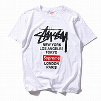 Stussy Men Fashion Casual Short Sleeve T-Shirt