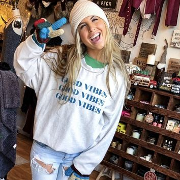 Good Vibes Fleece Top