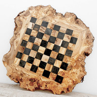 Father's Day Gift, Large Rustic Wooden Chess Board Set 20-Inch, Engraved Chess Set Board Game, Dad gift, Boyfriend Gift, Birthday Gift