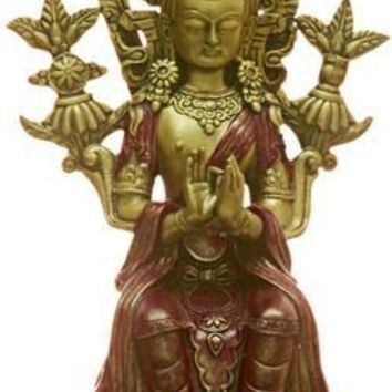 Buddha Maitreya of Future Seated Throne of Tushita Heaven Statue 9H