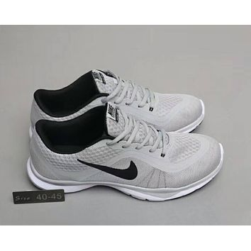 Nike FLEX TRAINER sports running cushioning training shoes F-A0-HXYDXPF Grey