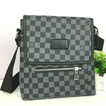 Perfect LV Men Office Bag Leather Satchel Shoulder Bag Crossbody