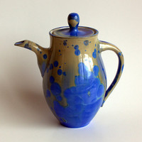 Deep Blue Crystalline Teapot by BrennaDeeCeramics on Etsy