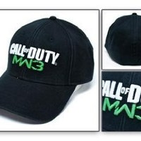 Call of Duty MW3 Logo Black Flex Cap